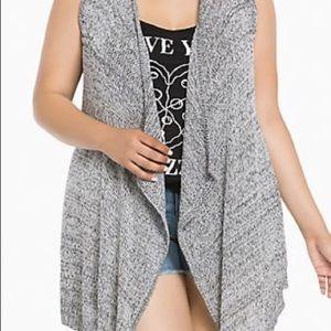Torrid marled knit grey vest size 1